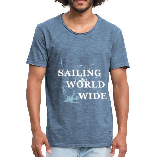 SAILING WORLDWIDE - Maglietta vintage da uomo