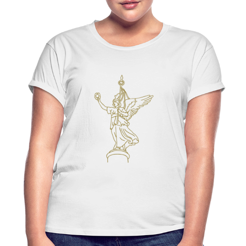 Goldelse auf der Siegessäule (gold) - Frauen Oversize T-Shirt