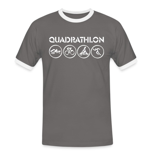 Quadrathlon T-shirt (various colors) - Men's Ringer Shirt