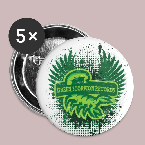 ''Green Scorpion Records'' Pins X5 - Buttons mittel 32 mm