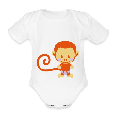 little monkey - Baby Bio-Kurzarm-Body