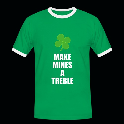 Make Mines A Treble - Men's Ringer Tee - Men's Ringer Shirt