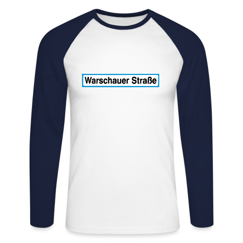 Warschauer Straße Berlin - Männer Baseballshirt langarm