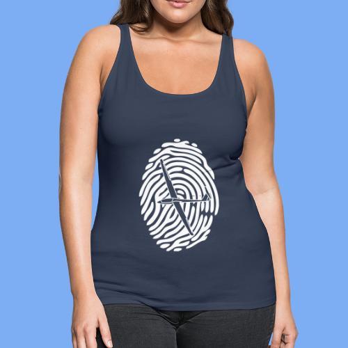 fingerprint glider - Women's Premium Tank Top