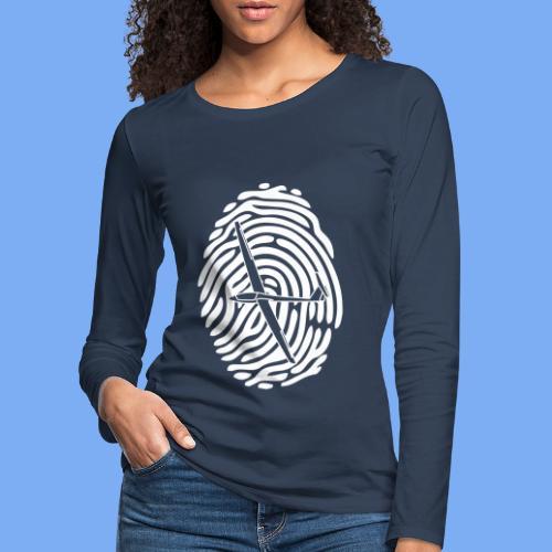 fingerprint glider - Women's Premium Longsleeve Shirt