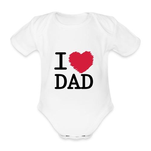 baby body - i love dad - Ekologisk kortärmad babybody