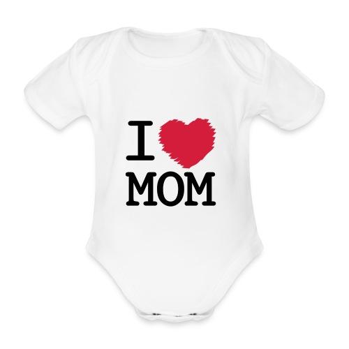 baby body - i love mom - Ekologisk kortärmad babybody