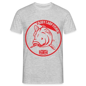 Enjoy Carp Fishing - Red logo - T-shirt Homme