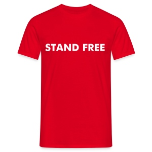 Stand Free Red - Men's T-Shirt