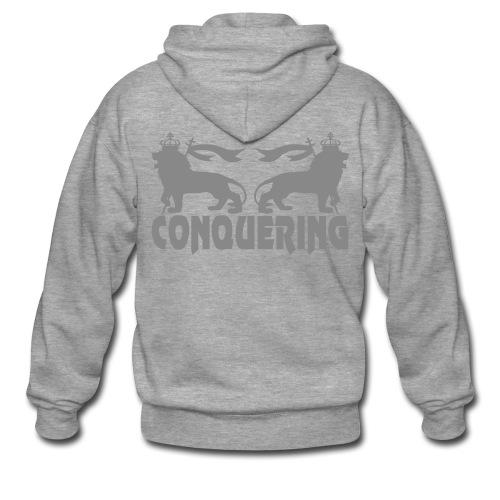 CONQUERING ARGENT - Veste à capuche Premium Homme
