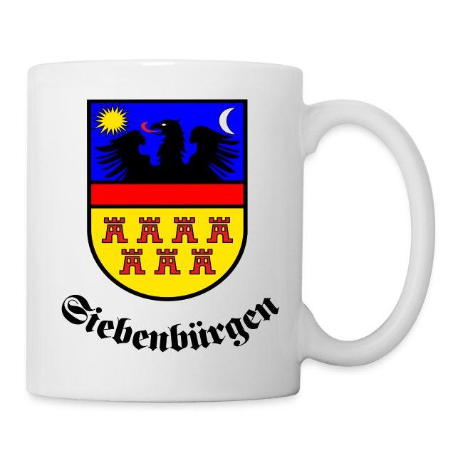 """Tasse """"Siebenbürgen"""" mit dem historischen Siebenbürgen-Wappen"""
