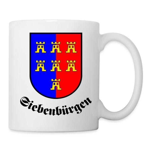 """Tasse """"Siebenbürgen"""" mit Sachsenwappen"""