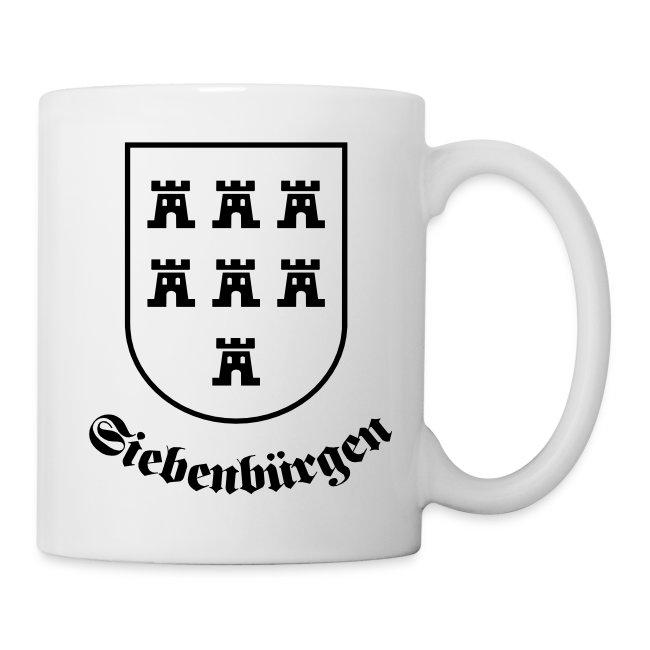 """Tasse """"Siebenbürgen"""" mit einfarbigen Wappen der Siebenbürger Sachsen"""