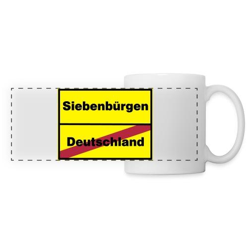 Kaffeepott Ortsschild Siebenbürgen - Panoramatasse