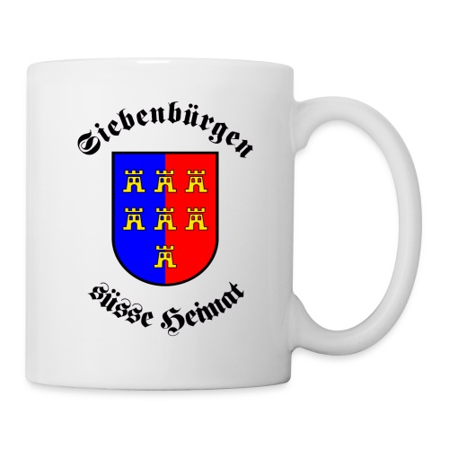Tasse Siebenbürgen süße Heimat mit Sachsenwappen - Siebenbürgen - Transylvania - Erdely - Ardeal - Tasse