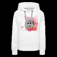 Sweatshirts ~ Dame Premium hættetrøje ~ Hættetrøje dame, I like the flowers