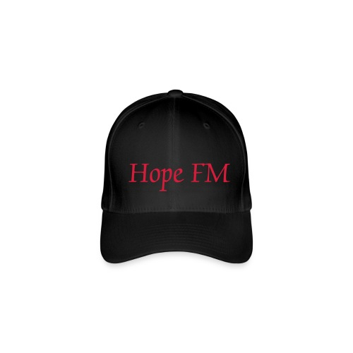 Basebal Cap. Black, Hope FM Text. - Flexfit Baseball Cap