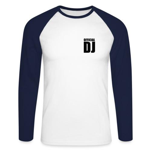 Dj Tshirt 'Official DJ' - Maglia da baseball a manica lunga da uomo