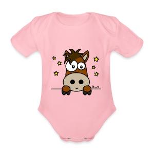 Body Bébé Poney Club, Équitation, Cheval - Body bébé bio manches courtes