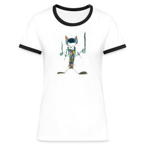 Kempferd auf weißem Frauenshirt - Frauen Kontrast-T-Shirt