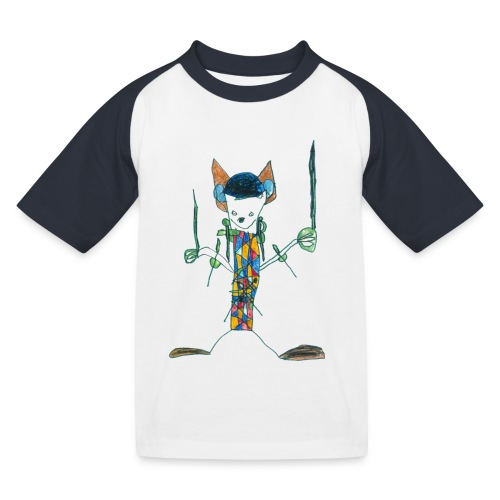 Kempferd auf weißem Kindershirt - Kinder Baseball T-Shirt