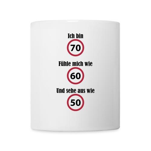 Tasse - 70. Geburtstag - witzig - weiß - Tasse