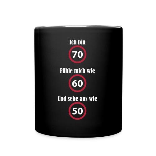 Tasse - 70. Geburtstag - witzig - schwarz - Tasse einfarbig