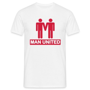 Man United red on white - Men's T-Shirt