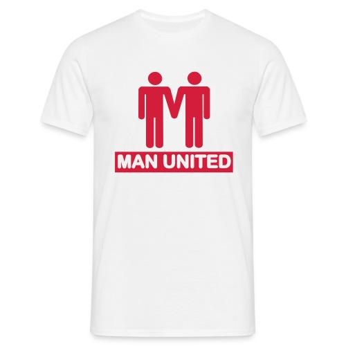 Man United red on white - Men's T-Shirt