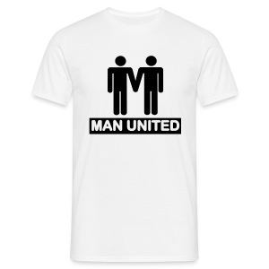 Man United black on white - Men's T-Shirt