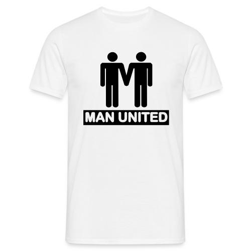 Man United black on white - Men's T-Shirt