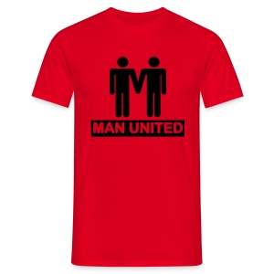 Man United black on red - Men's T-Shirt