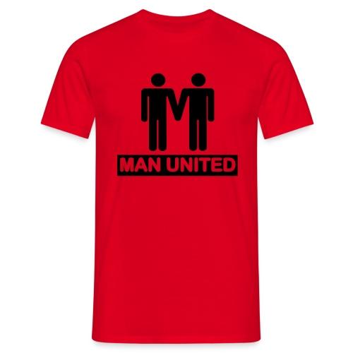Man United black on red - Men's T-Shirt