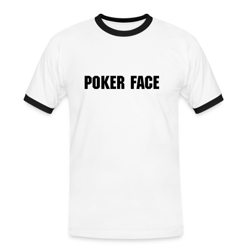 poker face t-shirt - Herre kontrast-T-shirt