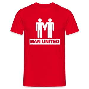 Man United white on red - Men's T-Shirt