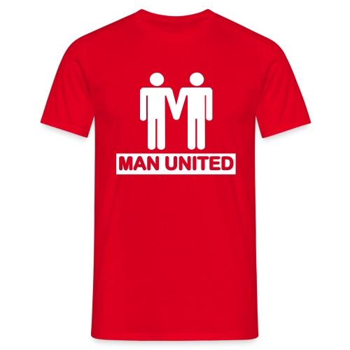 Man United white on red - Men's T-Shirt