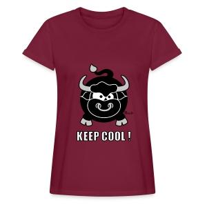 T-shirt OS Femme, Taureau, Bull, Keep Cool - T-shirt oversize Femme