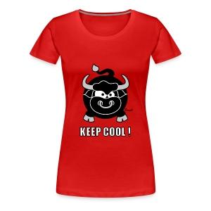 T-shirt P Femme, Taureau, Bull, Keep Cool - T-shirt Premium Femme