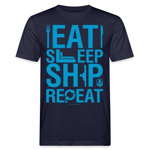 EatSleepShip Collection - Men's T-Shirt - Men's Organic T-Shirt