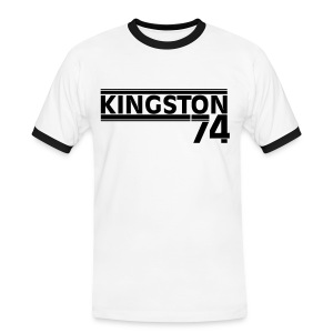 KINGSTON 74  NOIR - T-shirt contrasté Homme