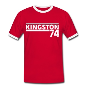 KINGSTON 74  BLANC - T-shirt contrasté Homme