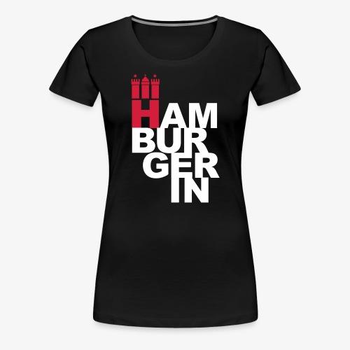 HAMBURGERIN Hamburg Stadtwappen T-Shirt schwarz - Frauen Premium T-Shirt