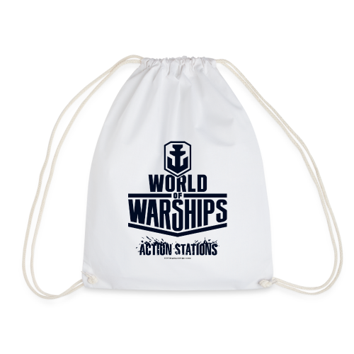 World of Warships Black Logo Collection - Gym Bag - Drawstring Bag