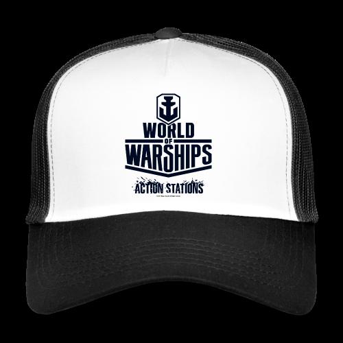 World of Warships Black Logo Collection - Cap - Trucker Cap