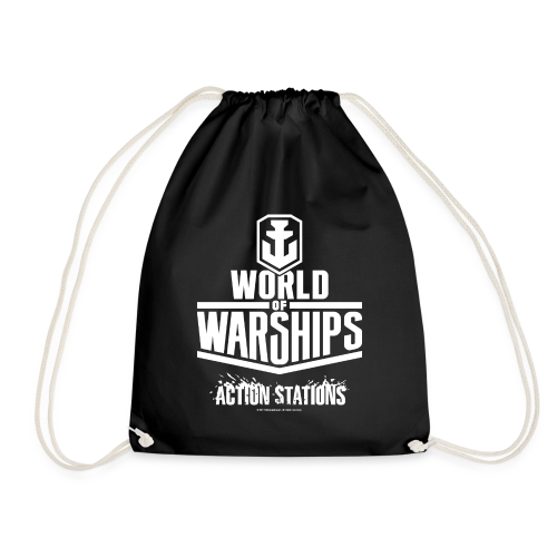 World of Warships White Logo Collection - Gym Bag - Drawstring Bag