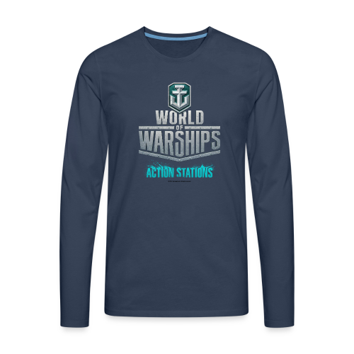 World of Warships Logo Collection - Men's Longsleeve Shirt - Men's Premium Longsleeve Shirt