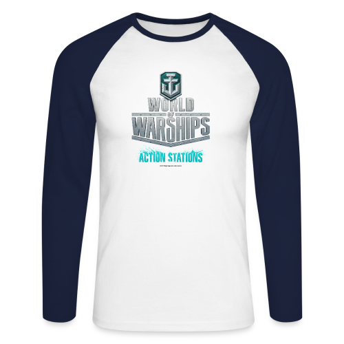 World of Warships Logo Collection - Men's Longsleeve Shirt - Men's Long Sleeve Baseball T-Shirt