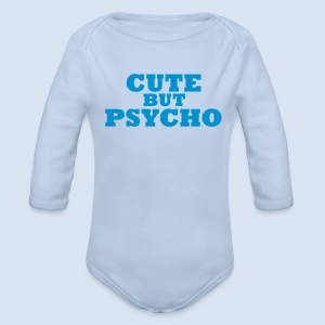 CUTE BUT PSYCHO - Love Design - Baby Bio-Langarm-Body