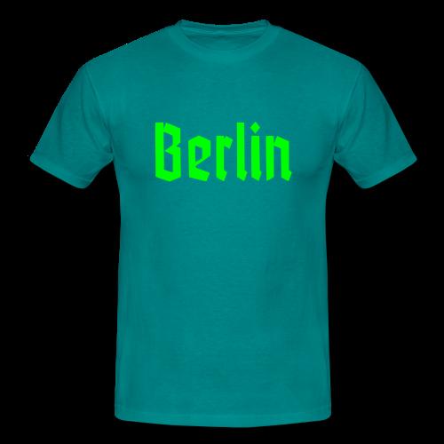 BERLIN Fraktur Berlinschrift - Männer T-Shirt