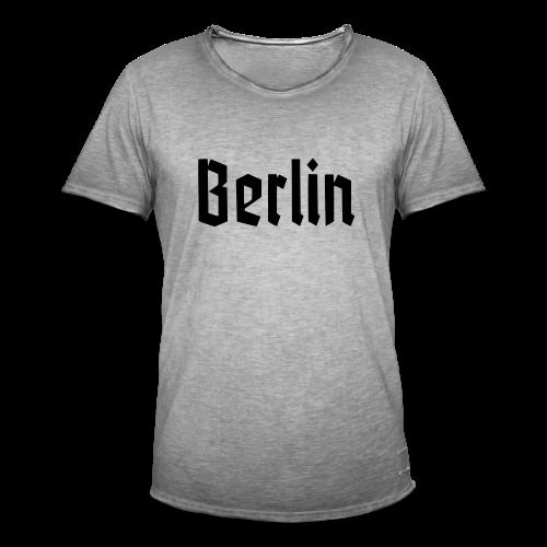 BERLIN Fraktur Berlinschrift - Männer Vintage T-Shirt